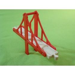 Most wiszący, czerwony