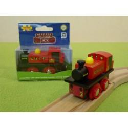 Czerwona lokomotywa Jack