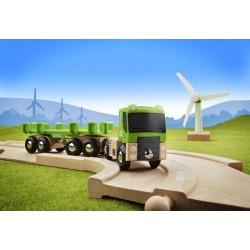 Eco zestaw z wiatrakiem i ciężarówką