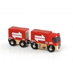 Ciężarówka z przyczepą