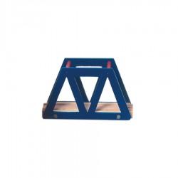 Most z drewnianą kratownicą - niebieski