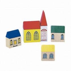 Domki drewniane - dekoracja makiety kolejowej