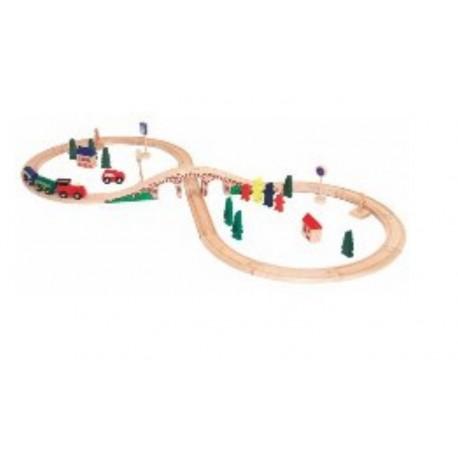 Makieta kolejowa 40 elementów