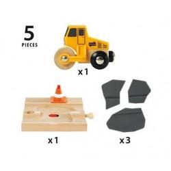 Układanie asfaltu - makieta drogowa