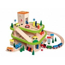 Wielki garaż drogowo-kolejowy