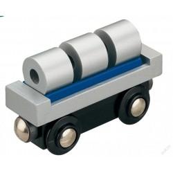 Wagon techniczny z walcami