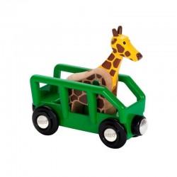Wagon, przyczepa z żyrafą