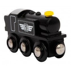 Wspaniale czarny parowóz na węgiel