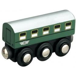 Klasyczny wagon pasażerski PKP, drewniany