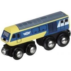 Ekspresowa lokomotywa żółto-niebieska