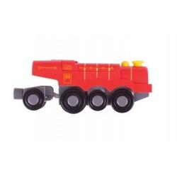 Wielka czerwona lokomotywa typu Scotsman