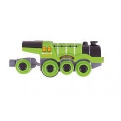 Wielka zielona lokomotywa typu Scotsman