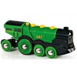 Brio - Klasyczna lokomotywa na baterie - zielona