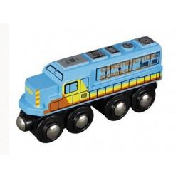 Ciężki diesel towarowy, niebieski