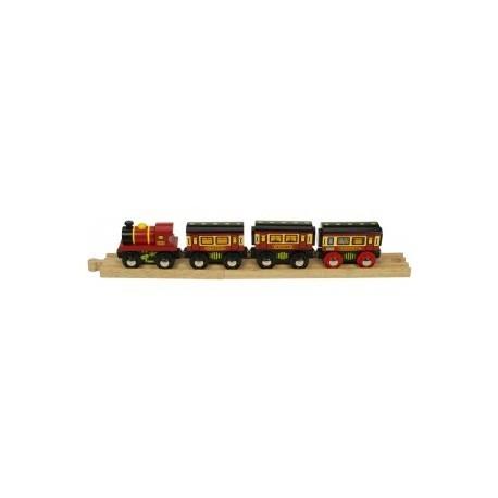 Pociąg z wagonami sypialnymi