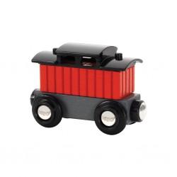 Wagon mieszkalny, czerwony
