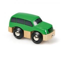 Zielone autko SUV