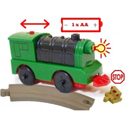 Mocna Automatyczna, szybka i silna lokomotywa elektryczna na duże paluszki
