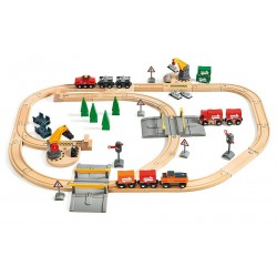 Wielki zestaw techniczny z lokomotywą elektryczną i automatyczną