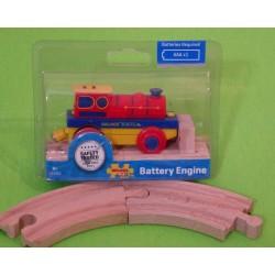 Prosta lokomotywa elektryczna Bigjigs + tory gratis!
