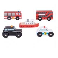 Pojazdy miejskie i statek