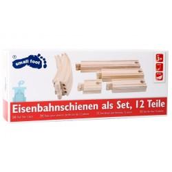 Zestaw 12 solidnych torów drewnianych Small foot