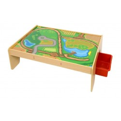 Zestaw Usługi - drewniany stół z szufladami