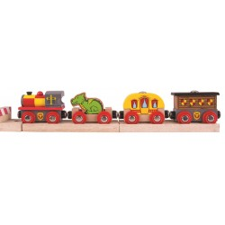 Pociąg zamkowy - rycerski ze smokiem
