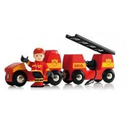 Pojazd strażacki Brio z syreną
