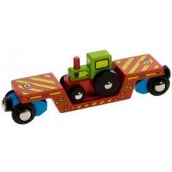 Wagon - platforma transportowa z traktorem
