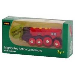 Brio - Klasyczna lokomotywa na baterie - czerwona