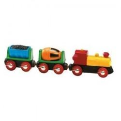 Pociąg towarowy - elektryczny z ruchomymi wagonikami