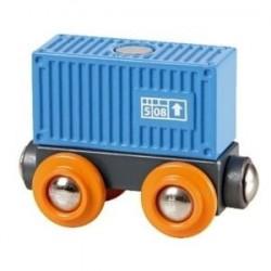 Wagon towarowy, niebieski