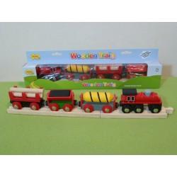 Pociąg towarowy z drewnem