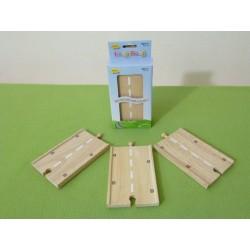 Długa, prosta droga drewniana - zestaw (3)