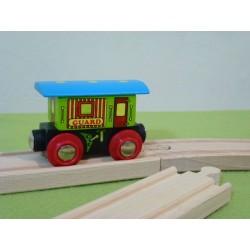 Wagon z niebieskim daszkiem - do pociągu pasażerskiego
