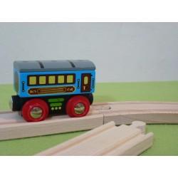 Wagon z szarym daszkiem - do pociągu pasażerskiego