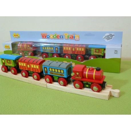 Pociąg pasażerski z trzema wagonami