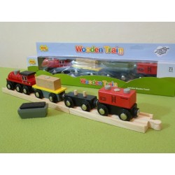 Pociąg towarowy ze skrzynią